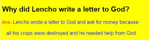 Why did Lencho write a letter to God