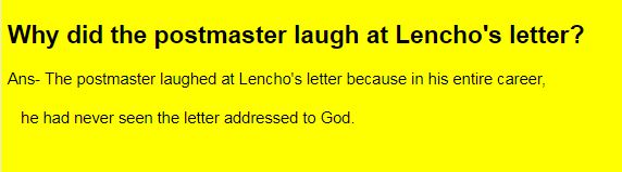 Why did the postmaster laugh at Lencho's letter