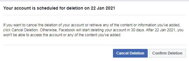 How to Delete Facebook Account 1