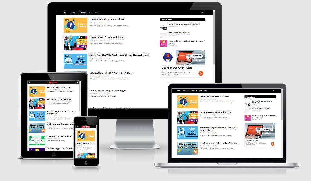 CT blog - Responsive Blogger theme
