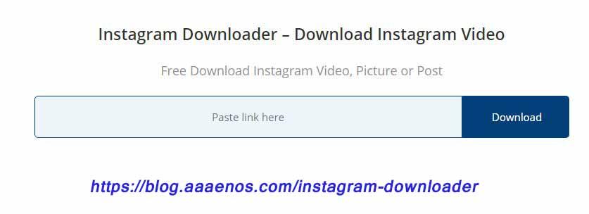 instagram downloader - download instagram video or post