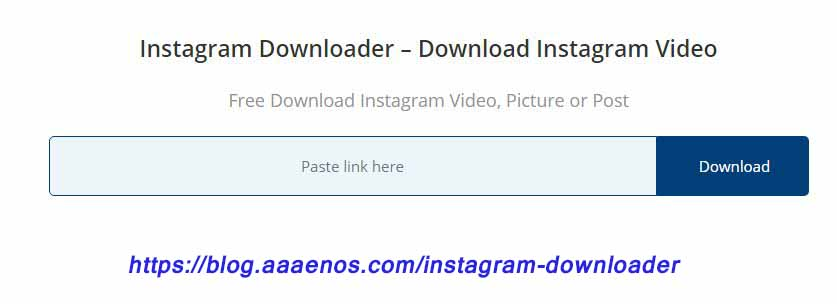 instagram downloader - download instagram video & post